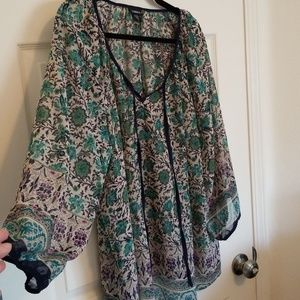 Lovely mix floral print blouse